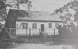 Garber's Meetinghouse of the Cooks Creek Congregation (photo from Brethren in Bridgewater, by Roger E. Sappington, 1978, originally from D. H. Zigler, History of the Brethren in Virginia, 1914)